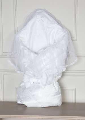 Конверт на выписку Снежинка белый