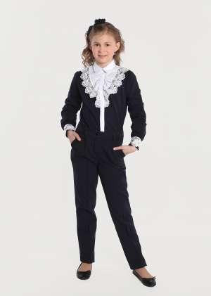 Блуза обманка для девочки школьная