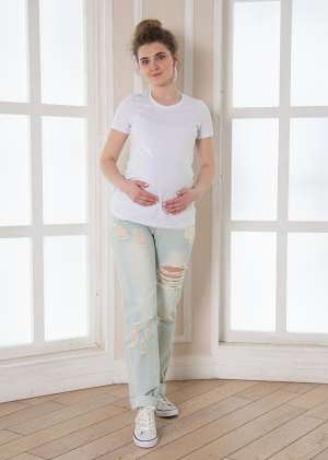 Джинсы бойфренды для беременных