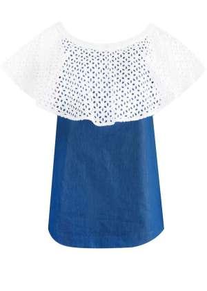 Блуза трапецивидного силуэта
