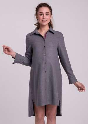 Платье-туника на пуговицах для беременных