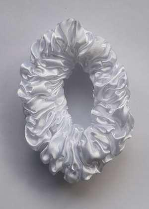 Резинка из атласа белая