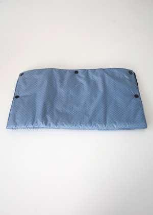 Муфта для рук для коляски утепленная серо_голубой