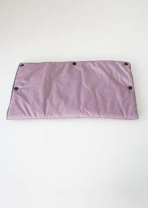 Муфта для рук для коляски утепленная серо_розовая