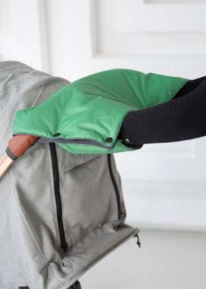 Муфта для рук для коляски утепленная зеленый