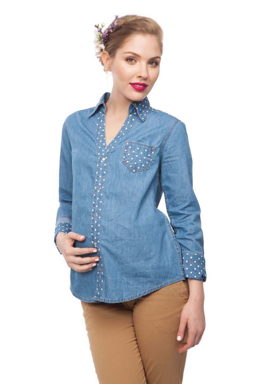 Рубашка джинсовая для беременных