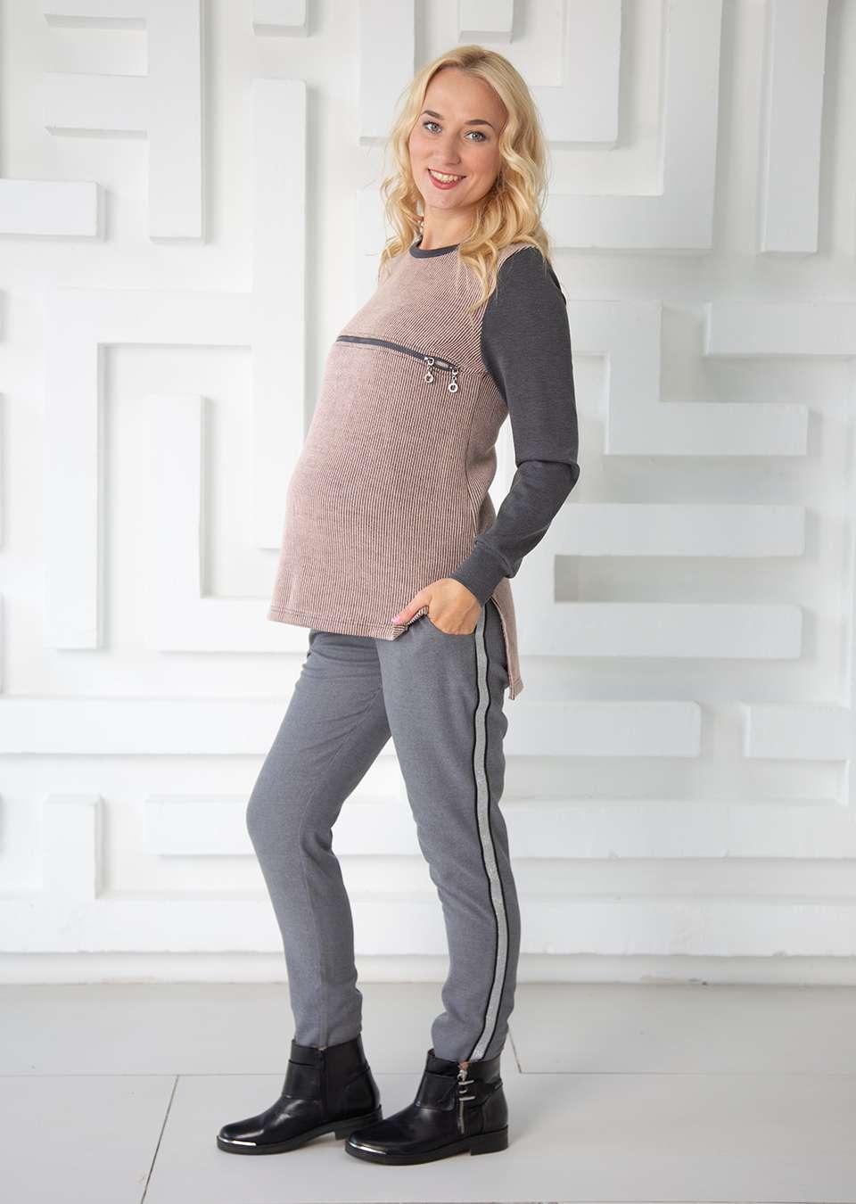 Брюки Алма с лампасом для беременных