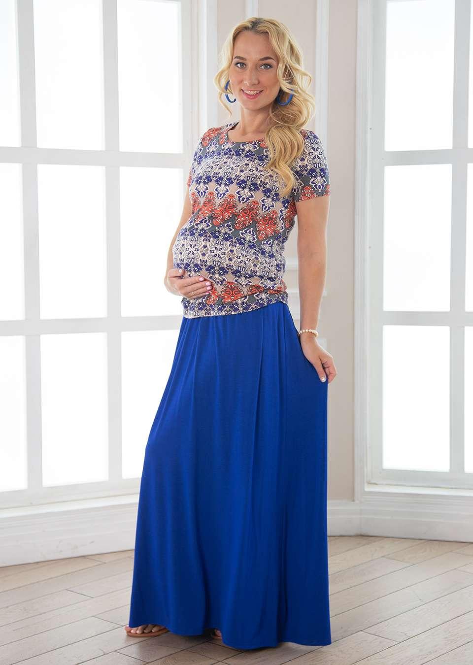 Юбка для беременных Верджиния длинная