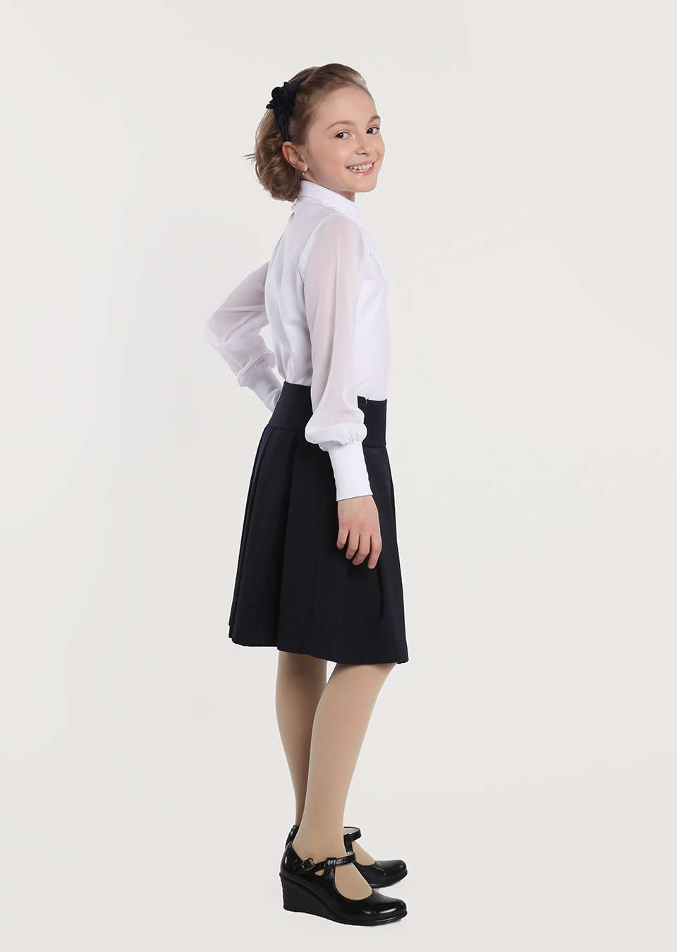 Блуза на пуговицах с галстуком