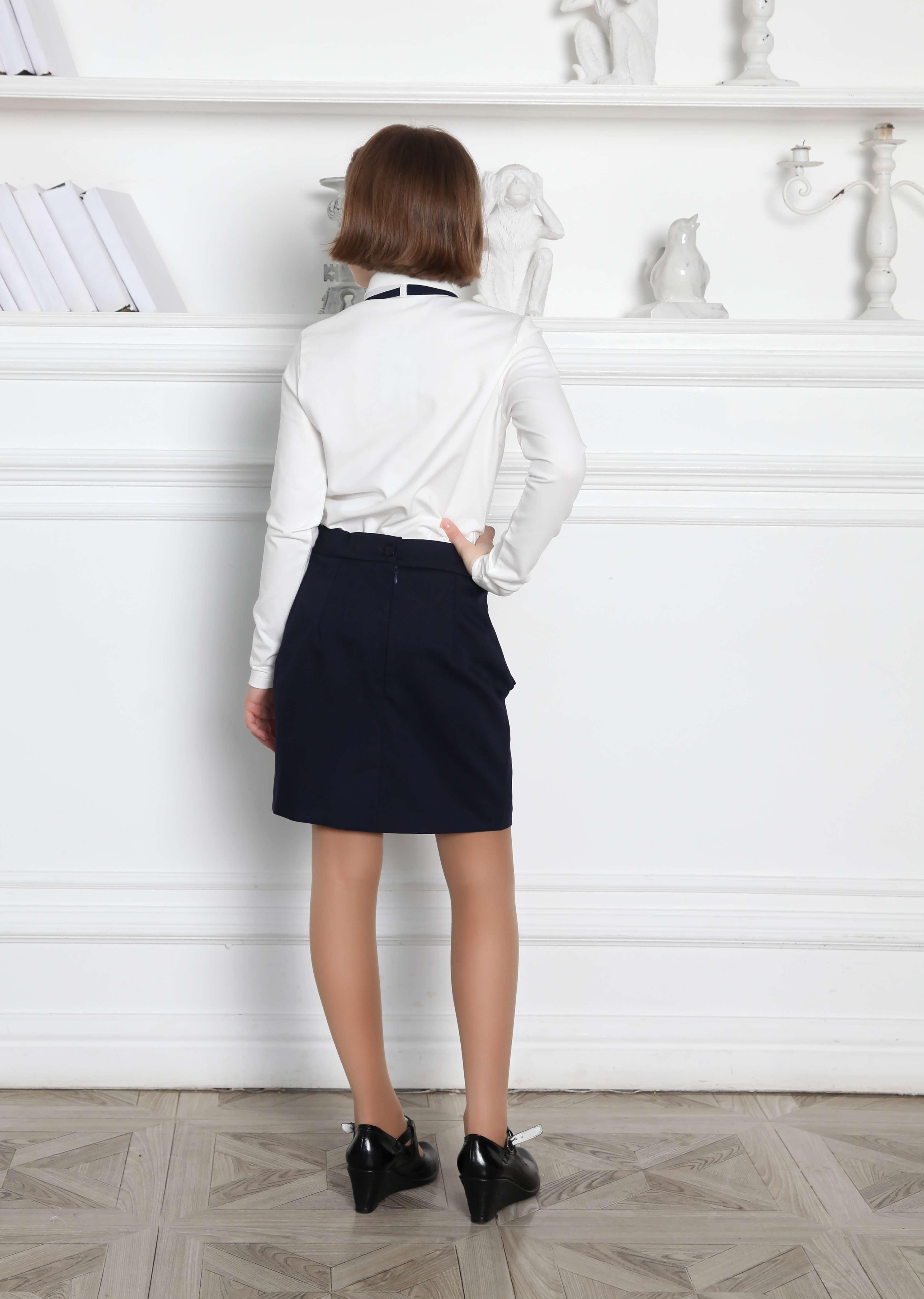 Блуза с галстуком школьная