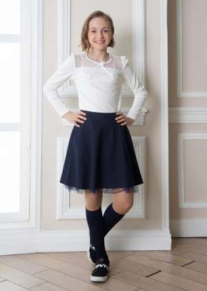 Блуза для девочки школьная