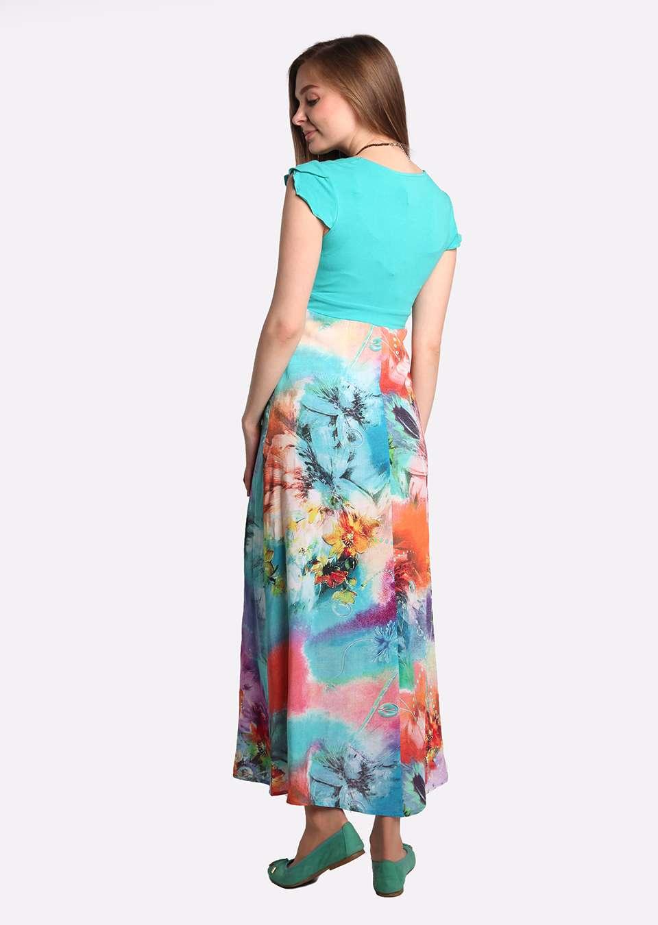Платье длинное для беременных и кормящих Дана