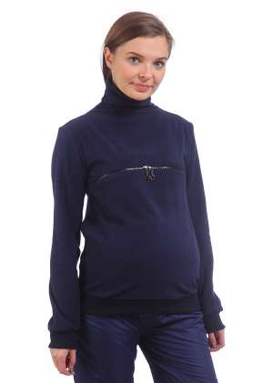 Пуловер для беременных и кормления