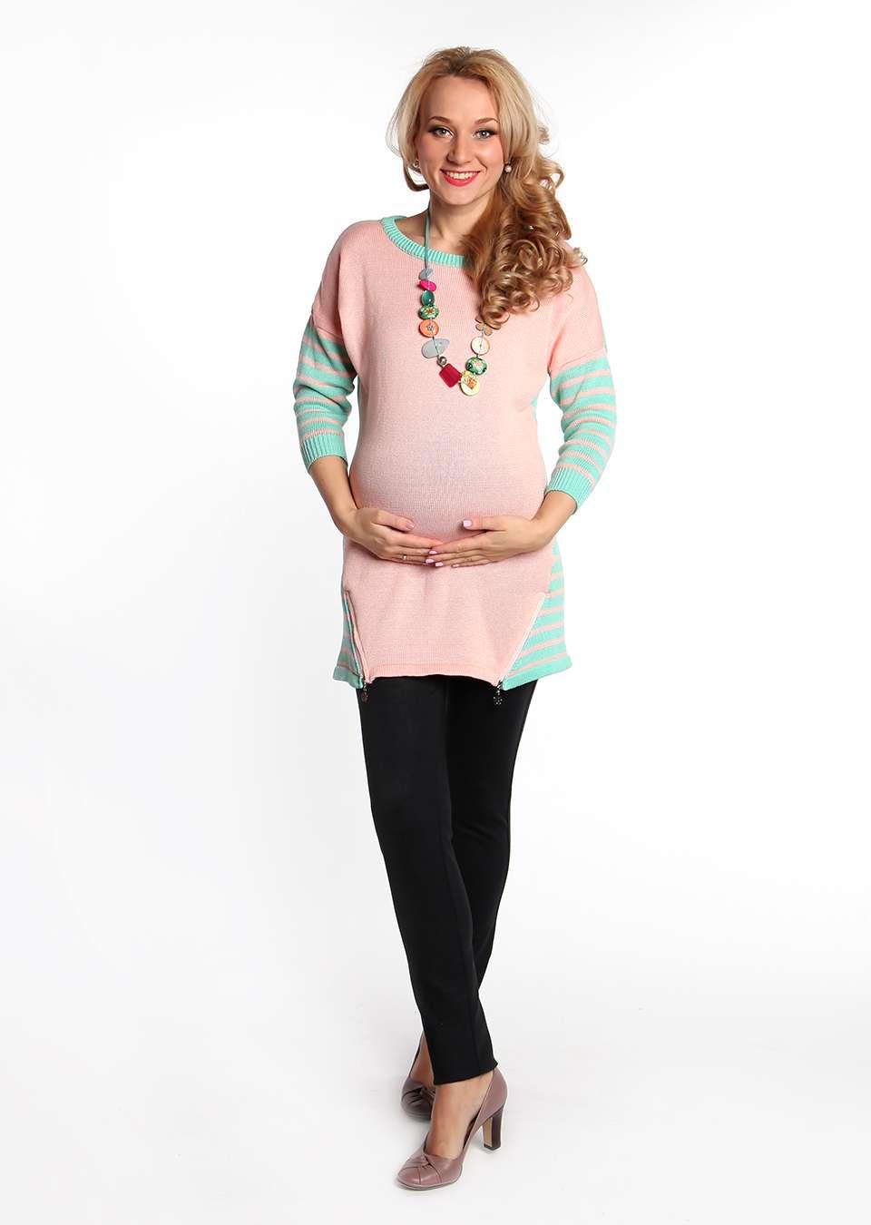 Джемпер Амели с молниями для беременных