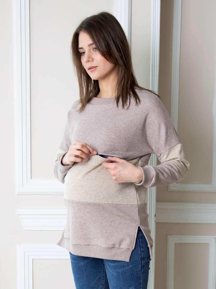 Свитшот для беременных и кормящих Плам