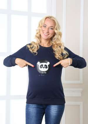 Свитшот для беременных Панда