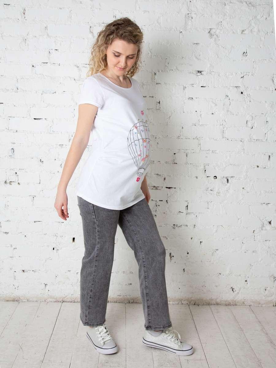 Футболка для беременных с принтом Андре