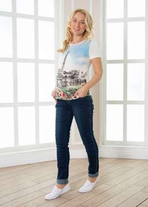 Футболка Эйфелева башнядля беременных