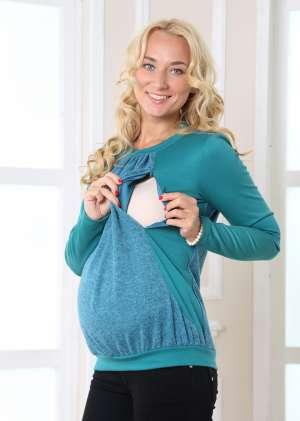 Джемпер  для беременных и кормления Меланж
