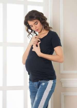 Футболка для беременных и кормящих Сирена