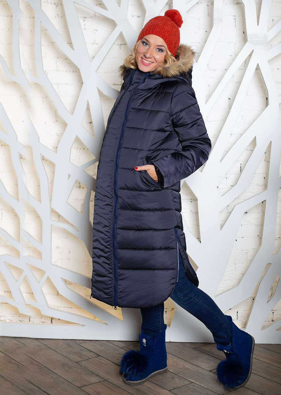Пальто 2в1 для беременных Калипсо