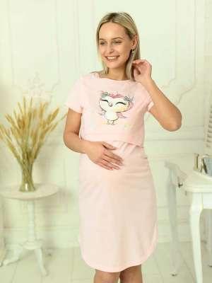 Сорочка для кормящих с принтом