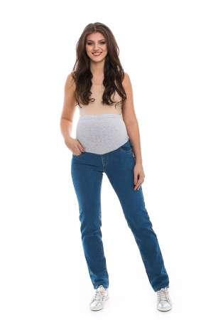 Джинсы для беременных с вышивкой