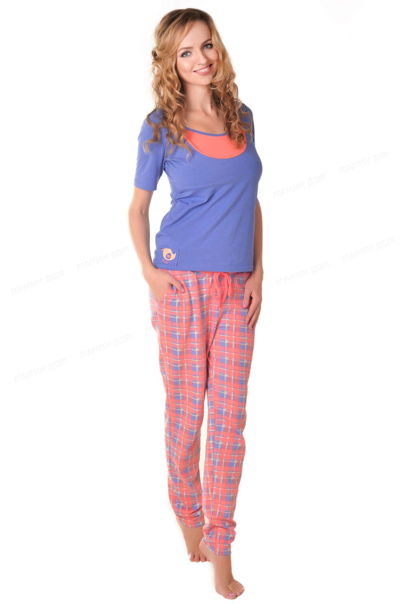 Пижама с брюками для беременных
