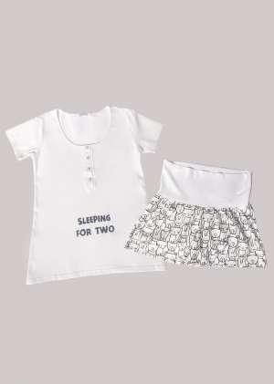 Пижама с шортами для беременных
