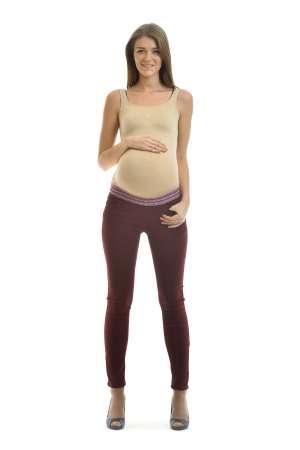 Брюки джеггинсы для беременных зауженные