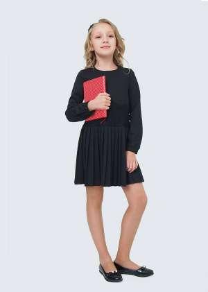 Платье с плиссерованной юбкой школьное