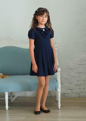 Платье школьное, рукава короткие