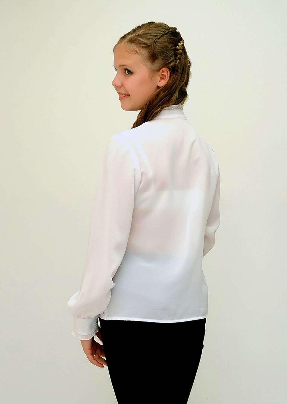 Блуза кружевная школьная