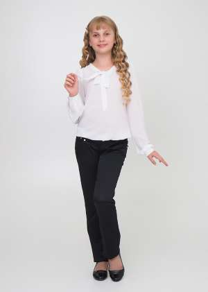Блуза с завязкой галстук школьная