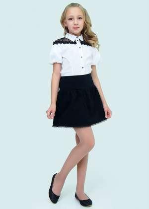 Блуза короткий рукав школьная