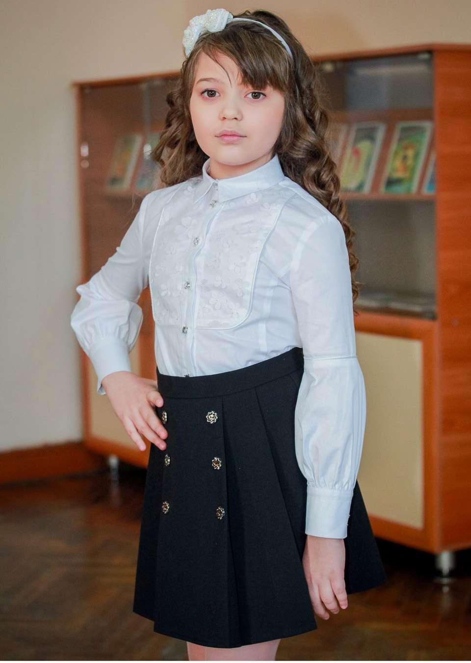 Блуза длинный рукав школьная
