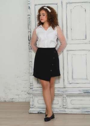 Блуза школьная с рукавами из фатина
