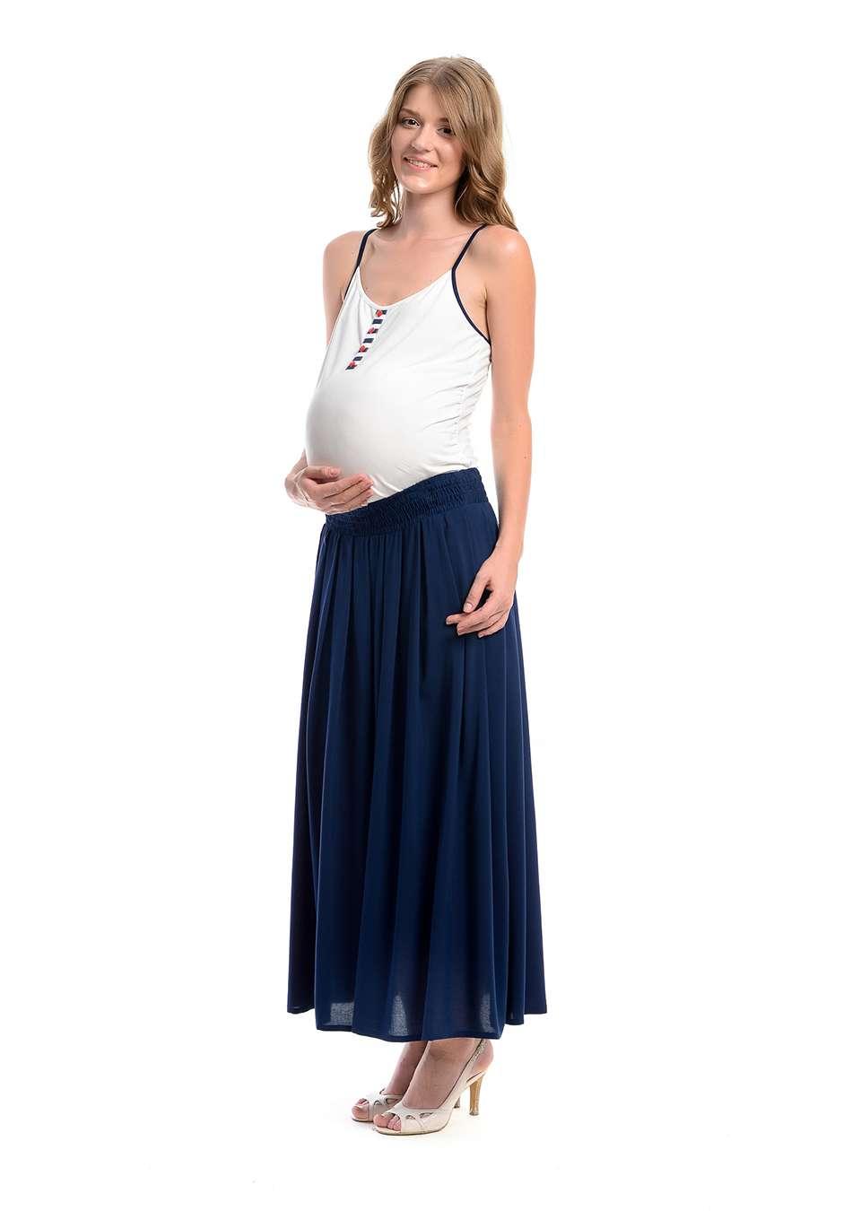 Юбка длинная для беременных