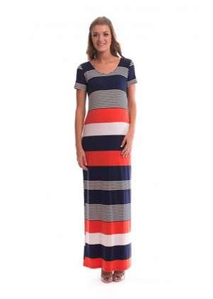 Платье для беременных макси в полоску