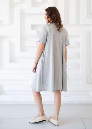 Комплект халат и сорочка для беременных Вереск
