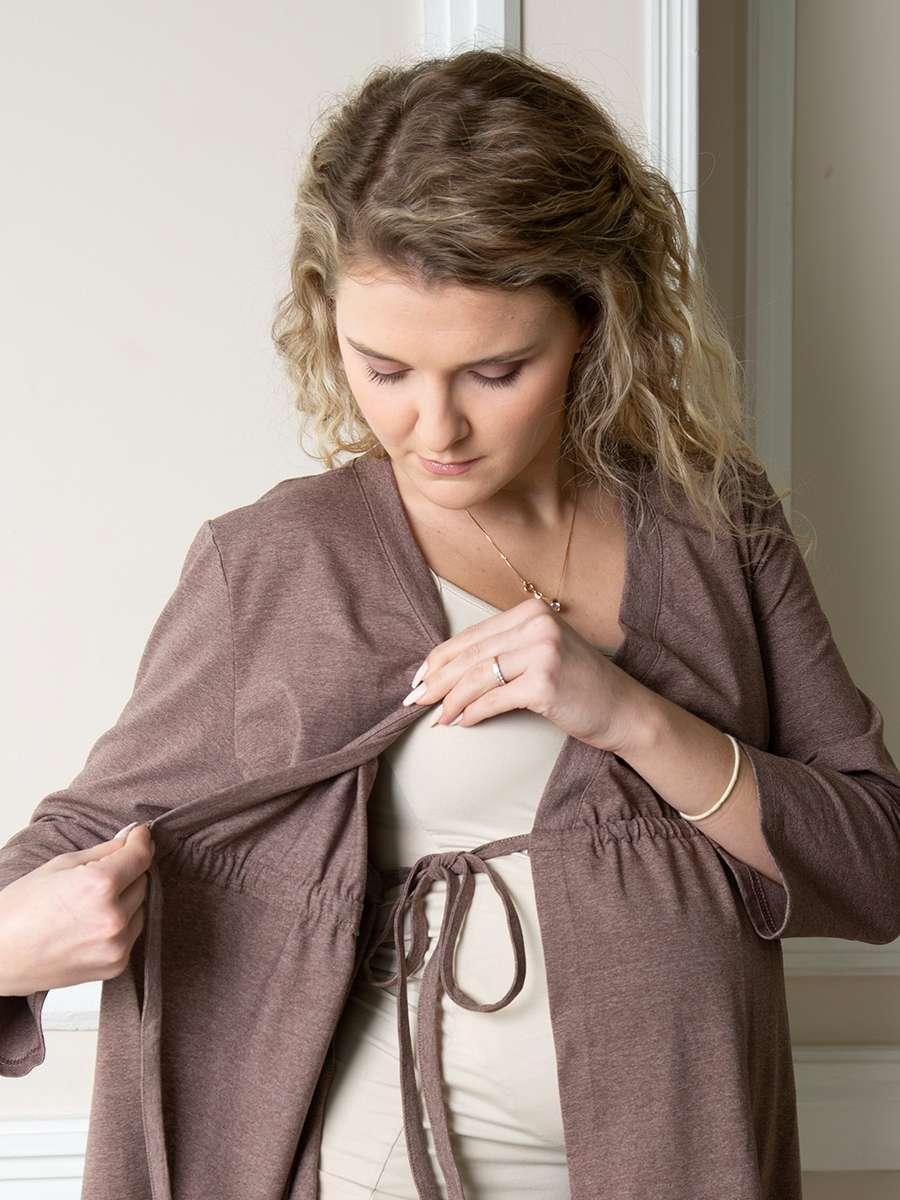Халат для беременных с завязкой