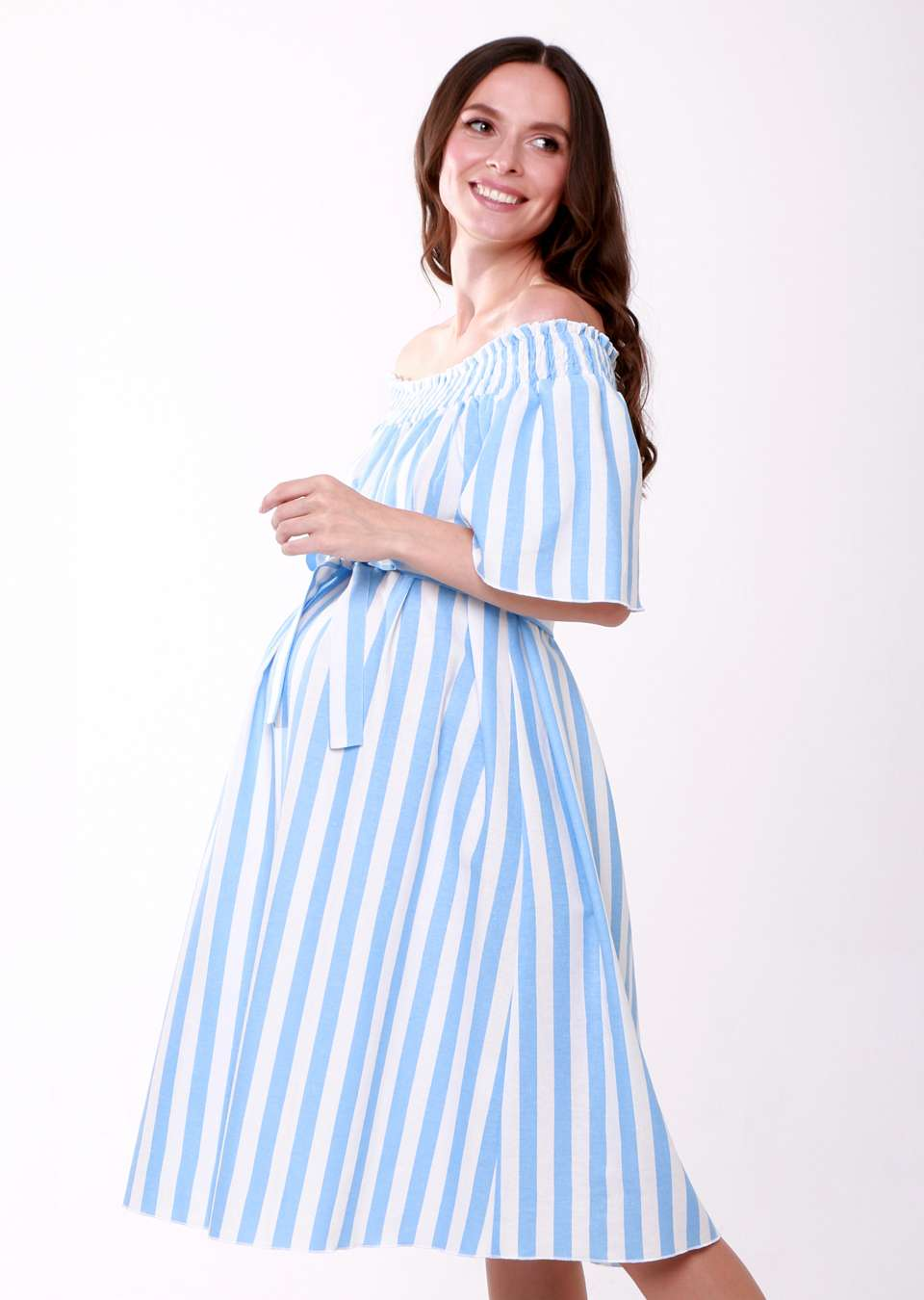Платье с пояском для беременных