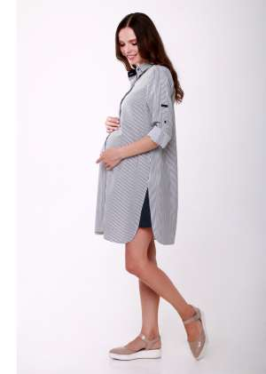 Платье на пуговицах для беременных