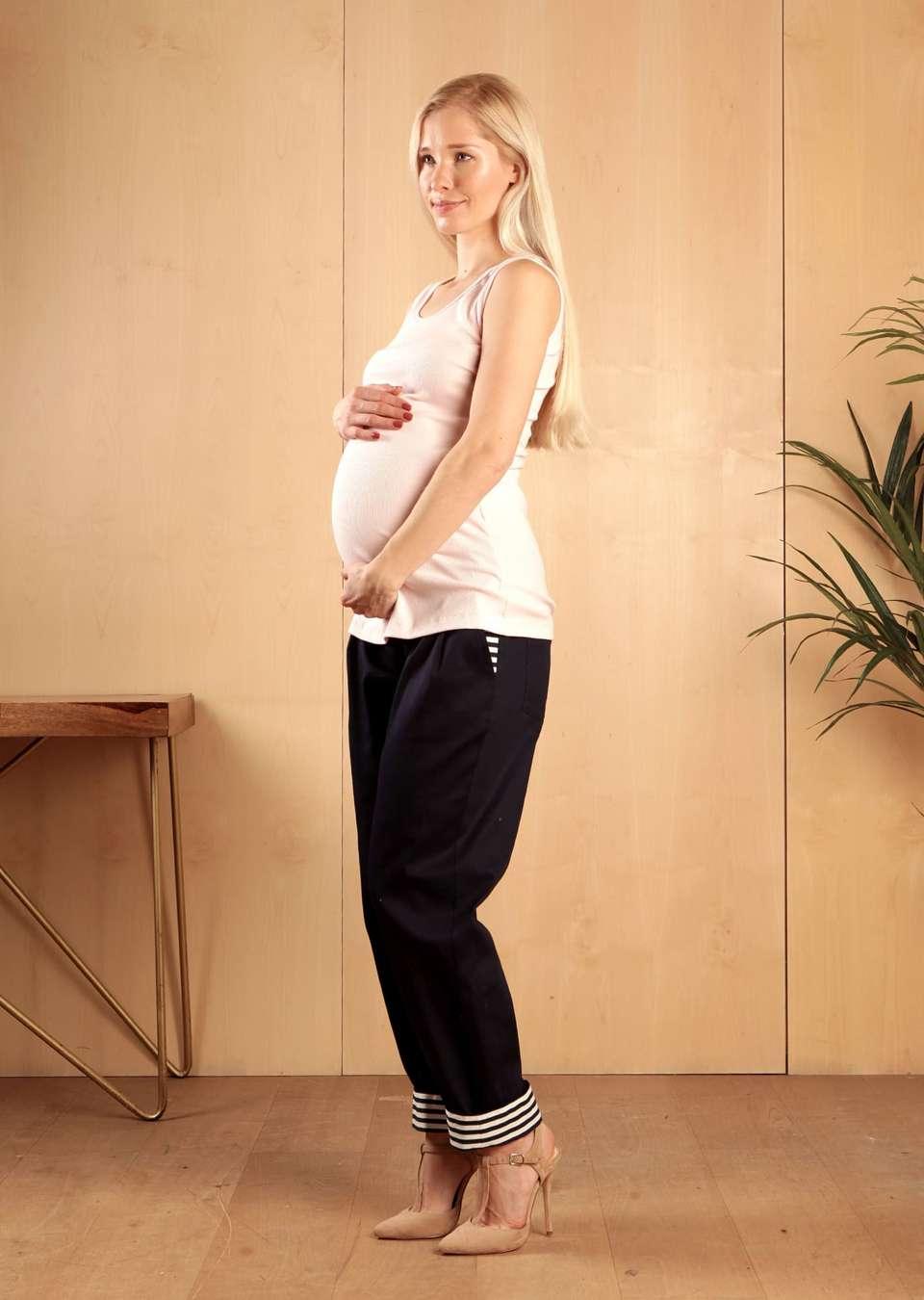 Брюки для беременных с манжетами