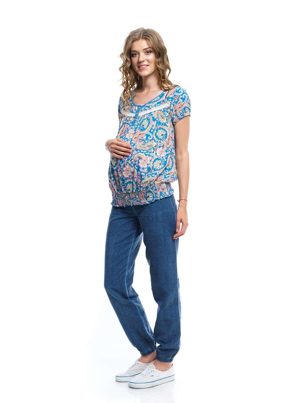 Блуза Флора  для беремееных