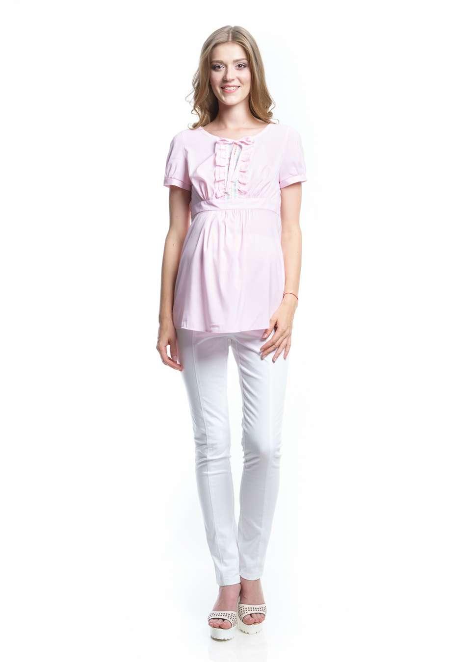 Блуза с коротким рукавом для беременных