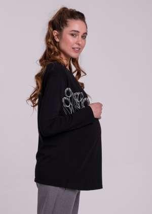 Лонгслив для беременных с принтом