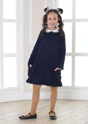 Платье школьное с карманами Карина