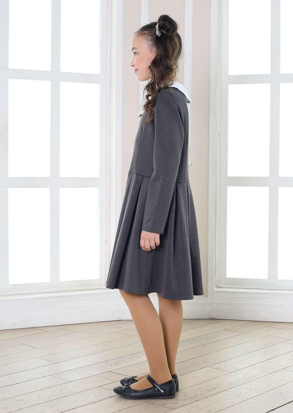 Платье с воротничком Аида школьное