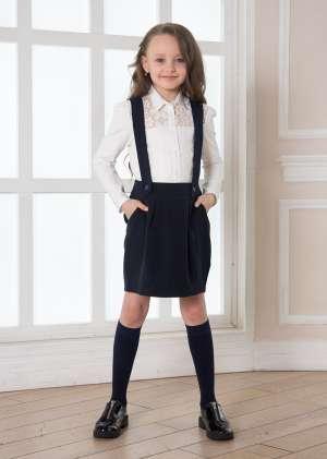 Юбка школьная с лямками Паола